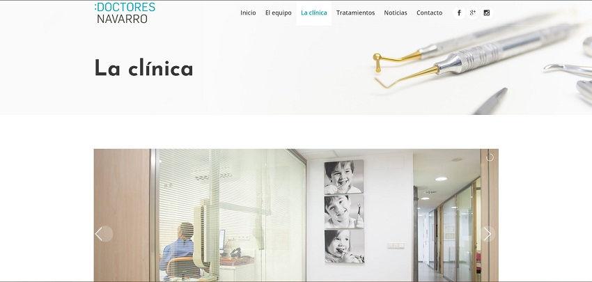 Nueva web de Doctores Navarro